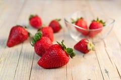 Isolerat från jordgubbar Royaltyfria Bilder