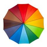 Isolerat färgglatt paraply Royaltyfria Foton
