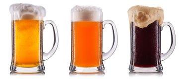 Isolerat frostigt exponeringsglas av öl royaltyfria foton
