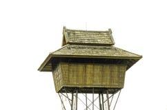 Isolerat gömma i handflatan summerhouse Arkivfoto