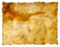 isolerat gammalt papper Arkivbild