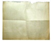 isolerat gammalt papper Arkivfoto