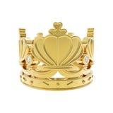 isolerat guld- för krona Royaltyfria Bilder