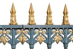 Isolerat guld- staket royaltyfri fotografi