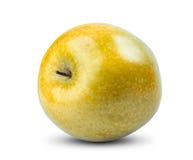 Isolerat gult äpple på vit bakgrund nytt Arkivfoton