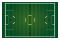 Isolerat horisontal för fotbollfält Royaltyfria Bilder