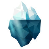 Isolerat isberg Arkivbilder