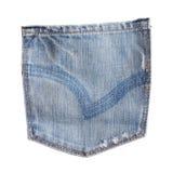 isolerat jeansfack Arkivbild