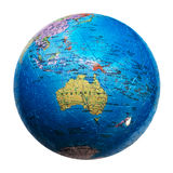 Isolerat jordklotpussel Översikt av Australien och Oceanien Arkivbilder