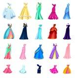 Isolerat klänningmateriel Arkivbilder