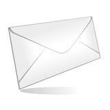 isolerat kuvert stock illustrationer