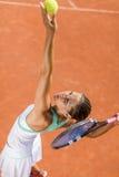 isolerat leka vitt kvinnabarn för tennis Arkivfoton