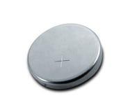 Isolerat litet batteri Arkivfoto