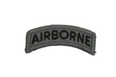 Isolerat luftburet emblem för USA-ARMÉ royaltyfria bilder