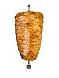 Isolerat Mellanösten grillat fegt kebabkött Royaltyfria Foton