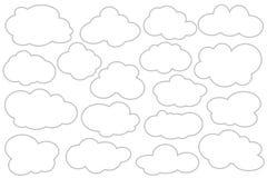 Isolerat moln av silute, vektor Royaltyfri Bild