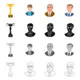 Isolerat objekt av den schackmatta och tunna logoen St?ll in av schackmatt och illustration f?r m?lmaterielvektor royaltyfri illustrationer