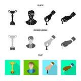 Isolerat objekt av det schackmatta och tunna symbolet Ställ in av schackmatt- och målmaterielsymbolet för rengöringsduk royaltyfri illustrationer