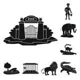 Isolerat objekt av fauna- och underh?llninglogoen Samling av faunor och att parkera vektorsymbolen f?r materiel royaltyfri illustrationer