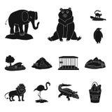 Isolerat objekt av fauna- och underh?llningtecknet Samling av faunor och att parkera materielsymbolet f?r reng?ringsduk royaltyfri illustrationer