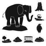 Isolerat objekt av fauna- och underh?llningtecknet Samling av faunor och att parkera materielsymbolet f?r reng?ringsduk stock illustrationer