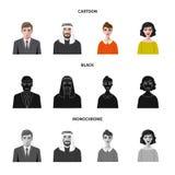 Isolerat objekt av frisyr- och yrkesymbolen Ställ in av illustration för frisyr- och teckenmaterielvektor royaltyfri illustrationer