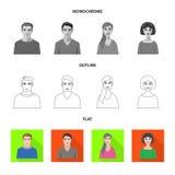 Isolerat objekt av frisyr- och yrkesymbolen Ställ in av frisyr- och teckenvektorsymbolen för materiel vektor illustrationer
