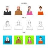Isolerat objekt av frisyr- och yrketecknet Samling av frisyr- och teckenmaterielsymbolet för rengöringsduk vektor illustrationer