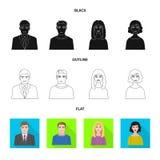 Isolerat objekt av frisyr- och yrketecknet Samling av frisyr- och teckenvektorsymbolen för materiel royaltyfri illustrationer
