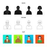Isolerat objekt av frisyr- och yrketecknet Samling av frisyr- och teckenvektorsymbolen f?r materiel vektor illustrationer