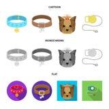 Isolerat objekt av husdjur- och tillbeh?rsymbolen Upps?ttning av husdjuret och att shoppa materielsymbolet f?r reng?ringsduk stock illustrationer