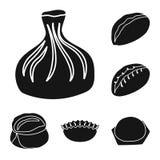 Isolerat objekt av kokkonst och aptitretarelogoen Ställ in av kokkonst- och matvektorsymbolen för materiel vektor illustrationer