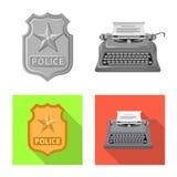 Isolerat objekt av lag och advokatlogoen Samling av illustrationen för lag- och rättvisamaterielvektor vektor illustrationer