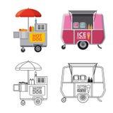 Isolerat objekt av marknads- och yttersidasymbolen Uppsättning av marknads- och matmaterielsymbolet för rengöringsduk royaltyfri illustrationer