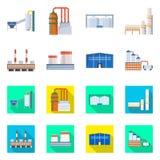 Isolerat objekt av produktion- och struktursymbolet o stock illustrationer