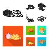 Isolerat objekt av smak- och seasoninsymbolen St?ll in av smak och det organiska materielsymbolet f?r reng?ringsduk stock illustrationer
