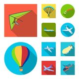 Isolerat objekt av transport- och objekttecknet Samlingen av transport och att glida lagerför symbolet för rengöringsduk vektor illustrationer