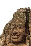 Isolerat objekt - le framsidatornet i den Bayon templet Royaltyfri Fotografi