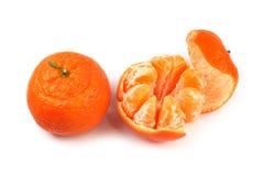 isolerat orange moget Arkivfoto