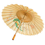 Isolerat orientaliskt paraply Fotografering för Bildbyråer