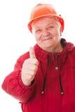 Ståendepensionärkvinna royaltyfri foto