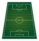 Isolerat perspactive för fotbollfält Arkivbild