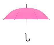 Isolerat rosa paraply Arkivfoton