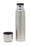 isolerat rostfritt stålvakuum för flaska portfölj Arkivfoto