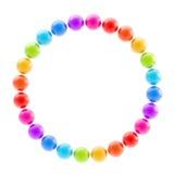 isolerat runt för cirkel färgrik ram Arkivfoton