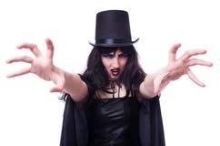 Isolerat Satanhalloween begrepp Royaltyfri Bild