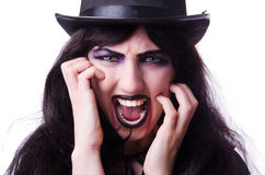 Isolerat Satanhalloween begrepp Royaltyfri Foto
