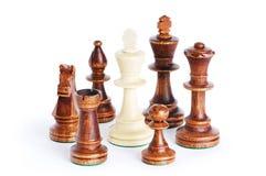 Isolerat schackdiagram på whiten Arkivbild