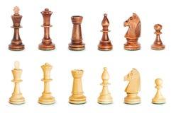 Isolerat schackdiagram på whiten Fotografering för Bildbyråer