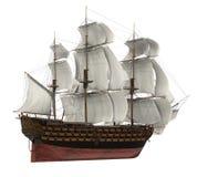isolerat segla shipen royaltyfri illustrationer